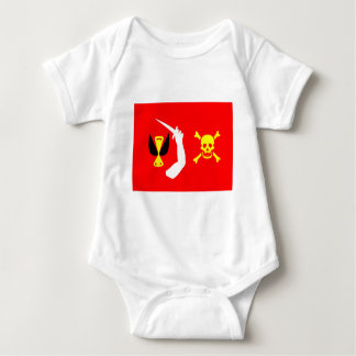 Christopher Moody pirate flag Baby Bodysuit