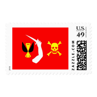 Christopher Moody pirate flag Postage