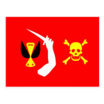 Christopher Moody pirate flag Postcard