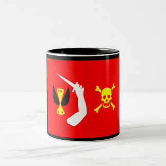 Christopher Moody pirate flag Two-Tone Coffee Mug