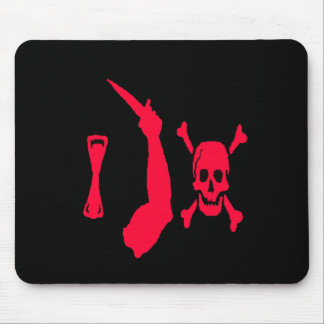 Christopher Moody-Red Mouse Pad