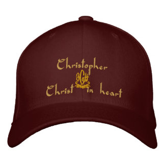 Christopher Name With English Meaning Embroidered Baseball Hat