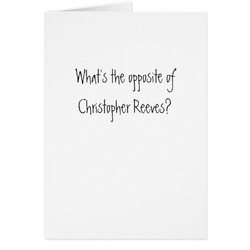 ¿Christopher Reeves? Tarjeta De Felicitación