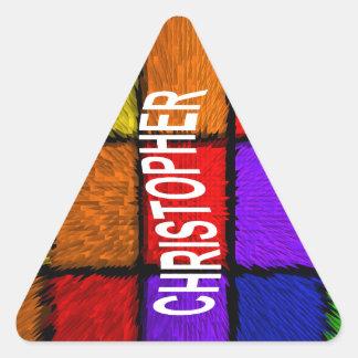 CHRISTOPHER TRIANGLE STICKER