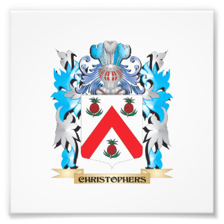 Christophers Coat of Arms - Family Crest Photographic Print