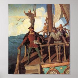 Christophorus Columbus Pictura 1492 Póster
