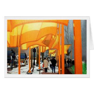 CHRISTO'S GATES CENTRAL PARK CARD