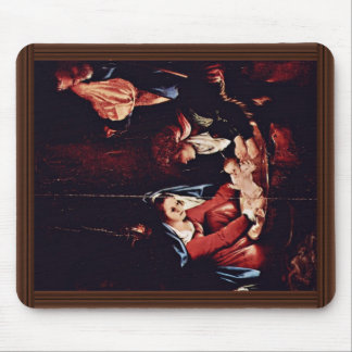 Christ'S Birth, Birth Of Jesus. Painting By Lorenz Mousepads