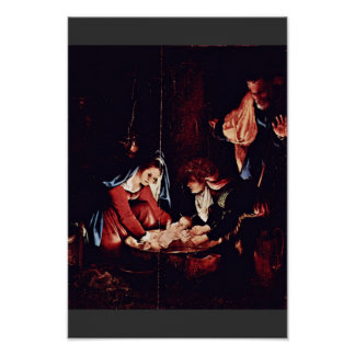 Christ'S Birth, Birth Of Jesus. Painting By Lorenz Print