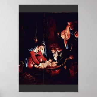 Christ'S Birth, Birth Of Jesus. Painting By Lorenz Poster