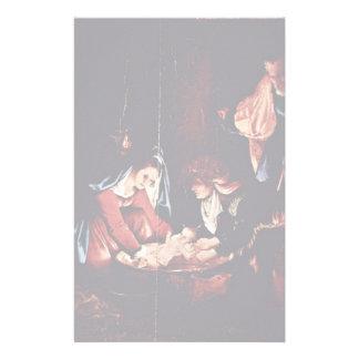 Christ'S Birth, Birth Of Jesus. Painting By Lorenz Stationery