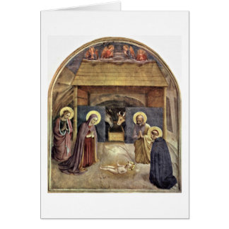 Christ'S Birth By Fra Angelico Card