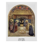 Christ'S Birth By Fra Angelico Print