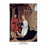 Christ'S Birth By Hans Memling Post Cards