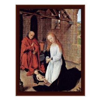 Christ'S Birth By Memling Hans Postcard