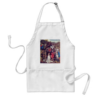 Christ'S Birth.,  By Robert Campin  (Best Quality) Adult Apron
