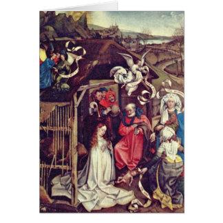 Christ'S Birth,By Robert Campin Card