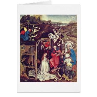 Christ'S Birth,By Robert Campin Greeting Cards