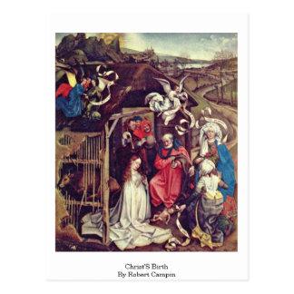 Christ'S Birth,By Robert Campin Post Card