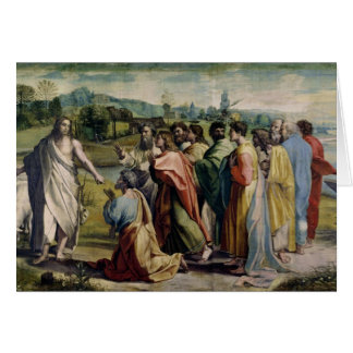 Christ's Charge to St. Peter (cartoon for the Sist Card