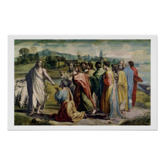 Christ's Charge to St. Peter (cartoon for the Sist Poster