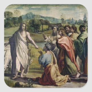 Christ's Charge to St. Peter (cartoon for the Sist Square Sticker
