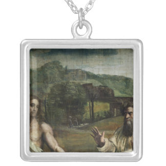 Christ's Charge to St. Peter Silver Plated Necklace