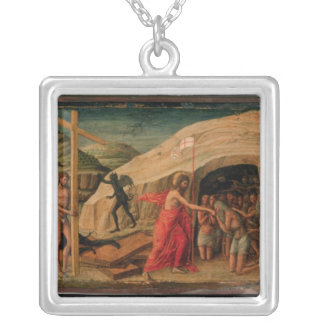 Christ's Descent into Limbo Silver Plated Necklace