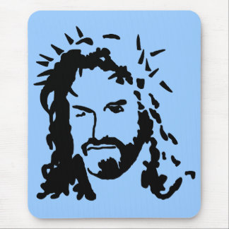 Christs Face Mouse Pad