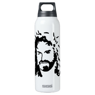 Christ's Face 16 Oz Insulated SIGG Thermos Water Bottle