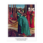 Christ'S Farewell To Maria By Bernhard Strigel Post Cards