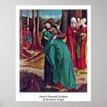Christ'S Farewell To Maria By Bernhard Strigel Print