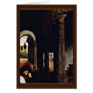 Christ'S Farewell To Maria Detail By Lotto Lorenzo Greeting Card