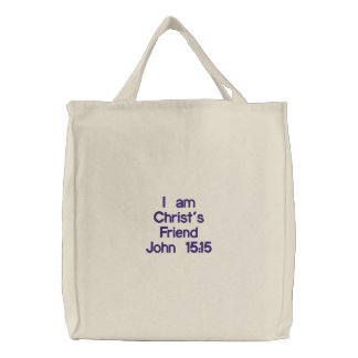 Christ's Friend Embroidered Tote Bag