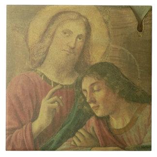 Christ's Head, from the Last Supper, 1480 (fresco) Ceramic Tile