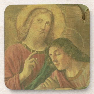 Christ's Head, from the Last Supper, 1480 (fresco) Drink Coaster