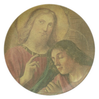 Christ's Head, from the Last Supper, 1480 (fresco) Plate