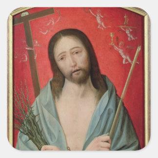 Christ's Passion Square Stickers