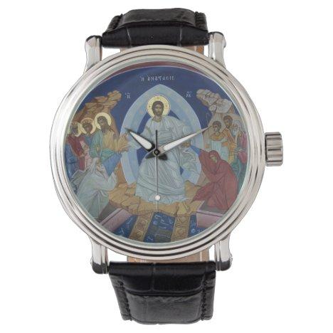 Christ's Resurrection Orthodox Icon Wristwatch