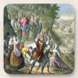 Christ's Triumphal Entry into Jerusalem, from a bi Drink Coaster