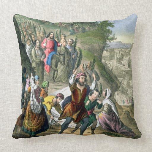Christ's Triumphal Entry into Jerusalem, from a bi Pillow