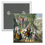 Christ's Triumphal Entry into Jerusalem, from a bi Pinback Button