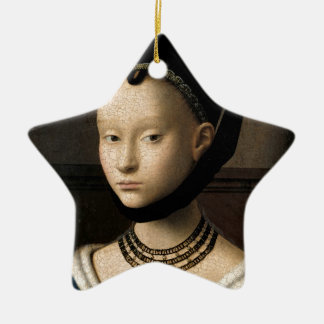 (Christus) Portrait of a Young Girl (1465-1470) Ceramic Ornament