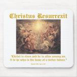 Christus Resurrexit - Hope / edge text Mouse Pad