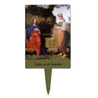 Christus und die Samariterin Cake Topper