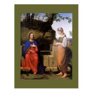 Christus und die Samariterin Postcard