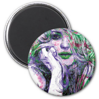Christy 2 Inch Round Magnet
