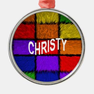 CHRISTY METAL ORNAMENT