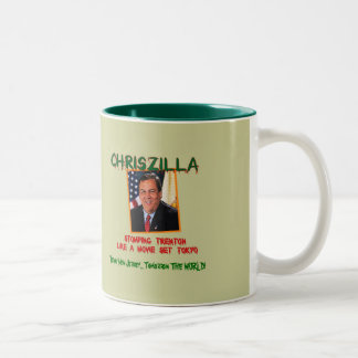 ChrisZILLA - taza fuerte de Gov. Chris Christie