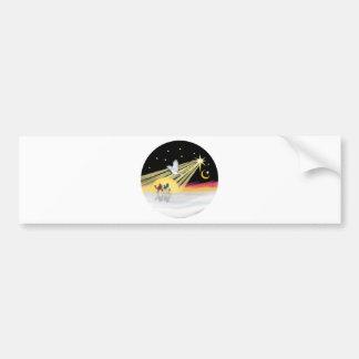 Chritmas Dove Bumper Stickers